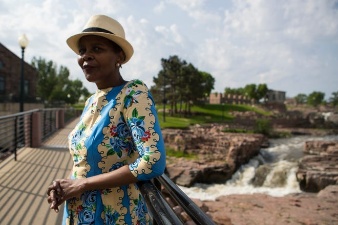 Clara Hart poses at Falls Park in Sioux Falls, S.D. on Wednesday, May 23, 2018.