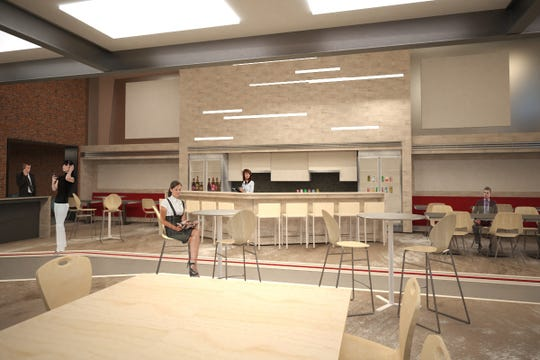 Artist renderings of what the Staunton Innovation Hub is set to look like after renovations at 11 N. Central Ave. in Staunton.