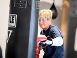 Judy Briggs, who has Parkinson's disease,  participates in the boxing oriented Rock Steady program in Staunton.