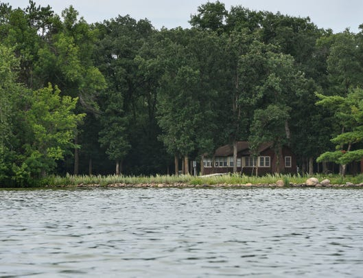 Homes line the shoreline of Little Rock Lake in this 2018 photo