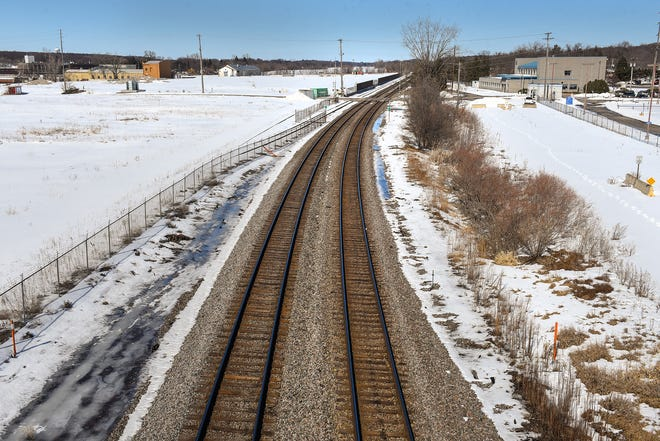 The site of the former Verso paper facility is shown Thursday, March 15, in Sartell.