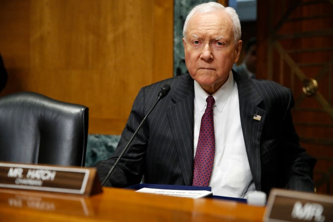 In this June 28, 2018, file photo, Sen. Orrin Hatch, R-Utah, attends a hearing on Capitol Hill in Washington. Hatch gave a farewell address Dec. 12 in which he bemoaned the disappearance of political civility, kinship and cross-party collaboration in the Senate.