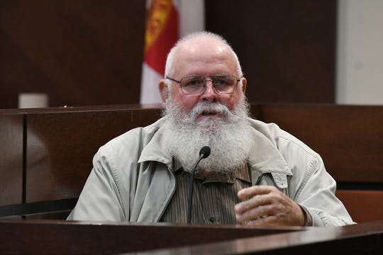 Howard Drew, an avid hunter who was asked to teach Mike Williams about hunting by his mother Cheryl Williams, details what he taught Williams about duck hunting and specifically when to wear waders during the trial against Denise Willams for the murder of her husband Mike Williams, Wednesday, Dec. 12, 2018.