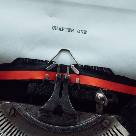 Vintage Typewriter Chapter One Concept