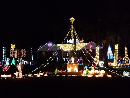 Bright display at 195 River Oaks Drive, Bainbridge, Georgia.