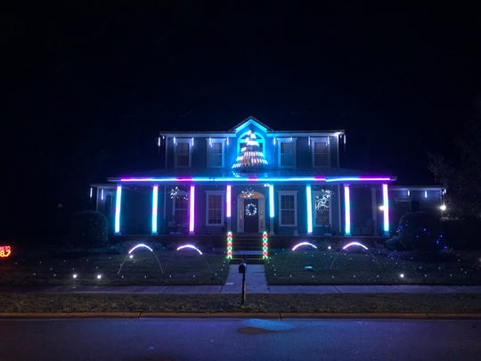 LED lights brighten the way at 3246 Endicott Drive.