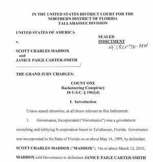 Indictment of Scott Maddox and Paige Carter-Smith