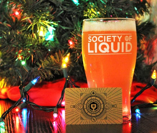 "Proof ""Society of Liquid"" pint glass"