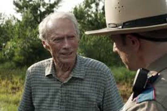 "Clint Eastwood, left, stars as a drug-runner in over his head in ""The Mule,"" opening Friday."