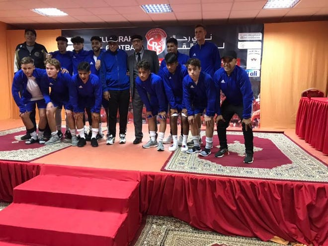 The U18 Port St. Lucie United soccer team during their recent trip to Morocco.