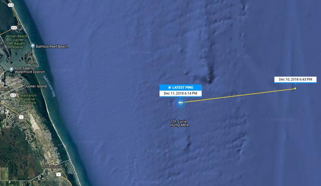 Katharine the Shark is spending time off Martin County in December 2018.