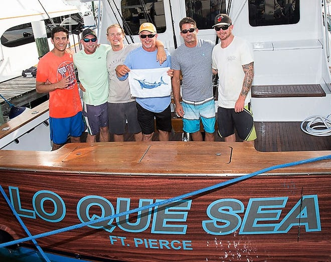 Lenny Schelin, second from the left, fished for several years as a mate aboard Lo Que Sea, a perennial billfish tournament winning team from Fort Pierce. Schelin, 33, passed away from glioblastoma in July.