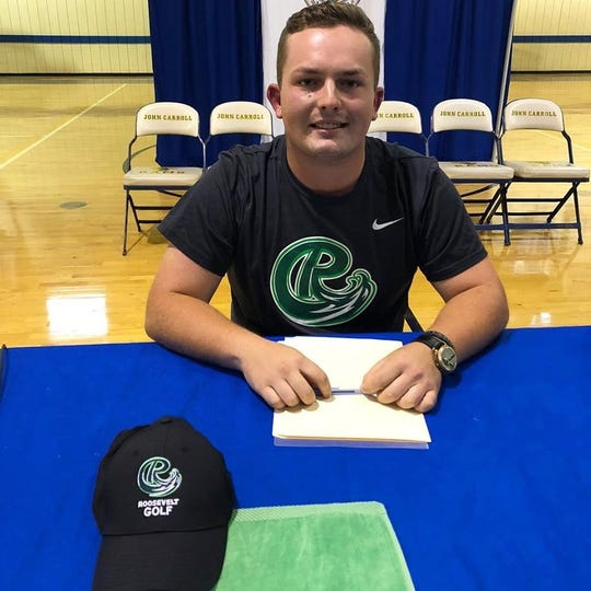 Senior golfer Trace McGuire committed to playing golf at Roosevelt University on Nov. 15.