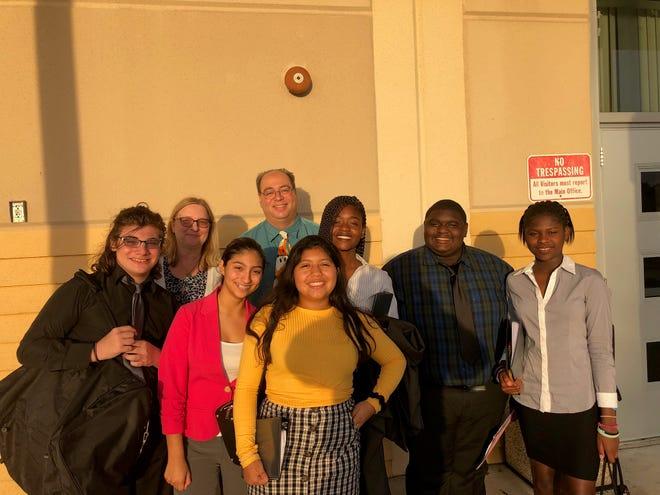 The LPA Speech & Debate Team and coaches at the Palm Beach Central HS Tournament.