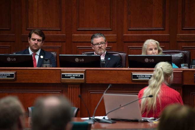 """Vero Beach Mayor Harry Howle, center, expressed some profound comments Dec. 11, 2018, at a council meeting, according to TCPalm columnist Laurence Reisman. """"I am sick and tired of contentious items tearing us apart,"""" Howle said. """"Can't we just all get along?"""""""