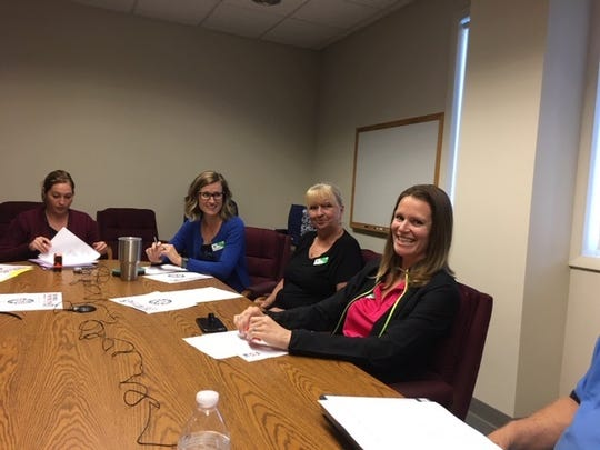 Sarah Taylor resigns after serving on the KPSLB Committee for many years. Calleigh Myers (City Clerk), Jenny Tomes (New Chairperson), Darlene McLaughlin, Sarah Taylor.