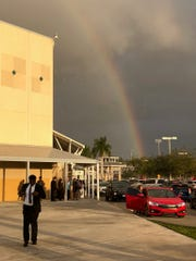 The LPA Team departs from a successful tournament with a rainbow lighting the way.