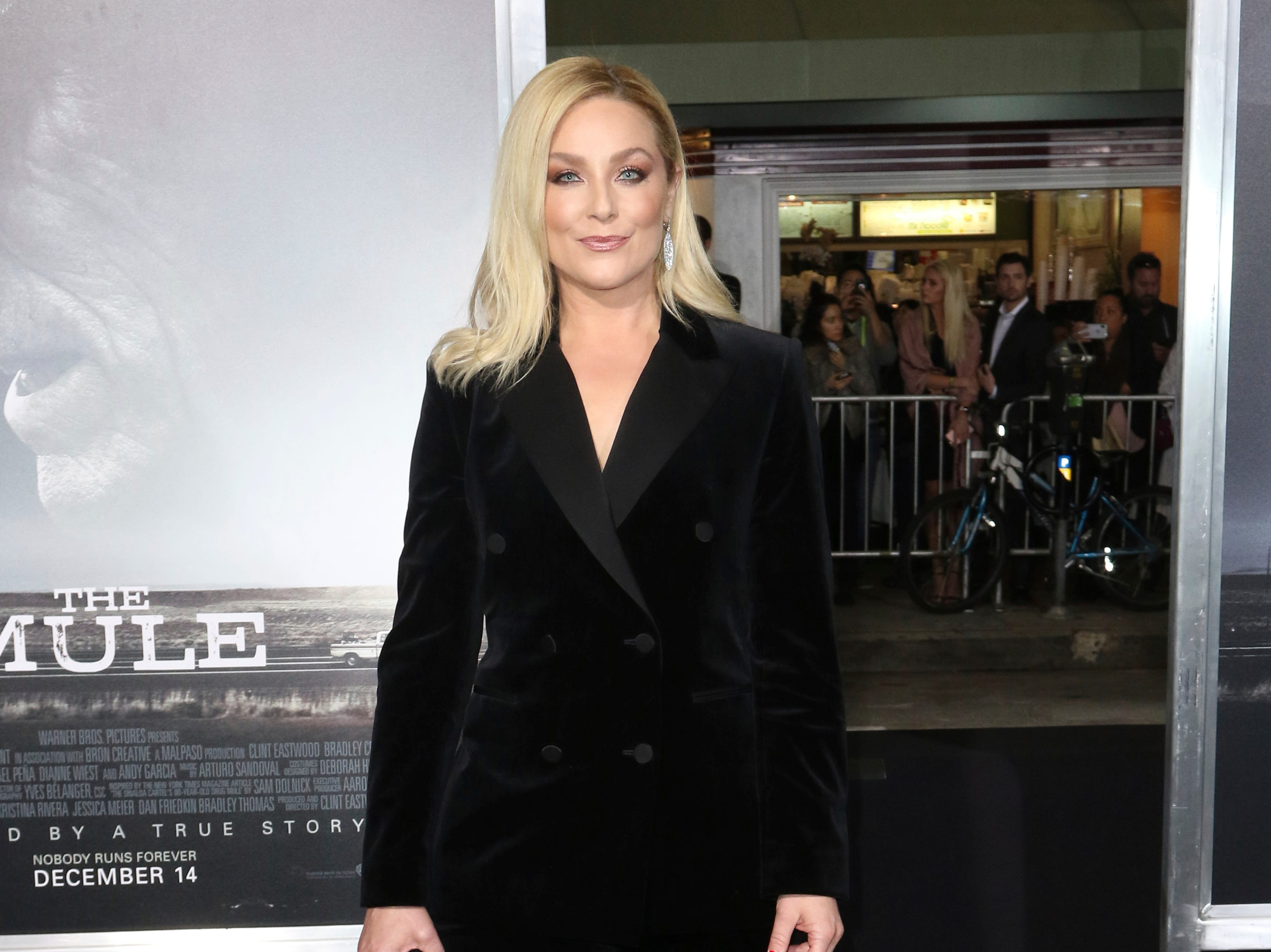 "Elisabeth Rohm arrives at the world premiere of ""The Mule"" on Monday, Dec. 10, 2018, at the Westwood Regency Village Theatre in Los Angeles."