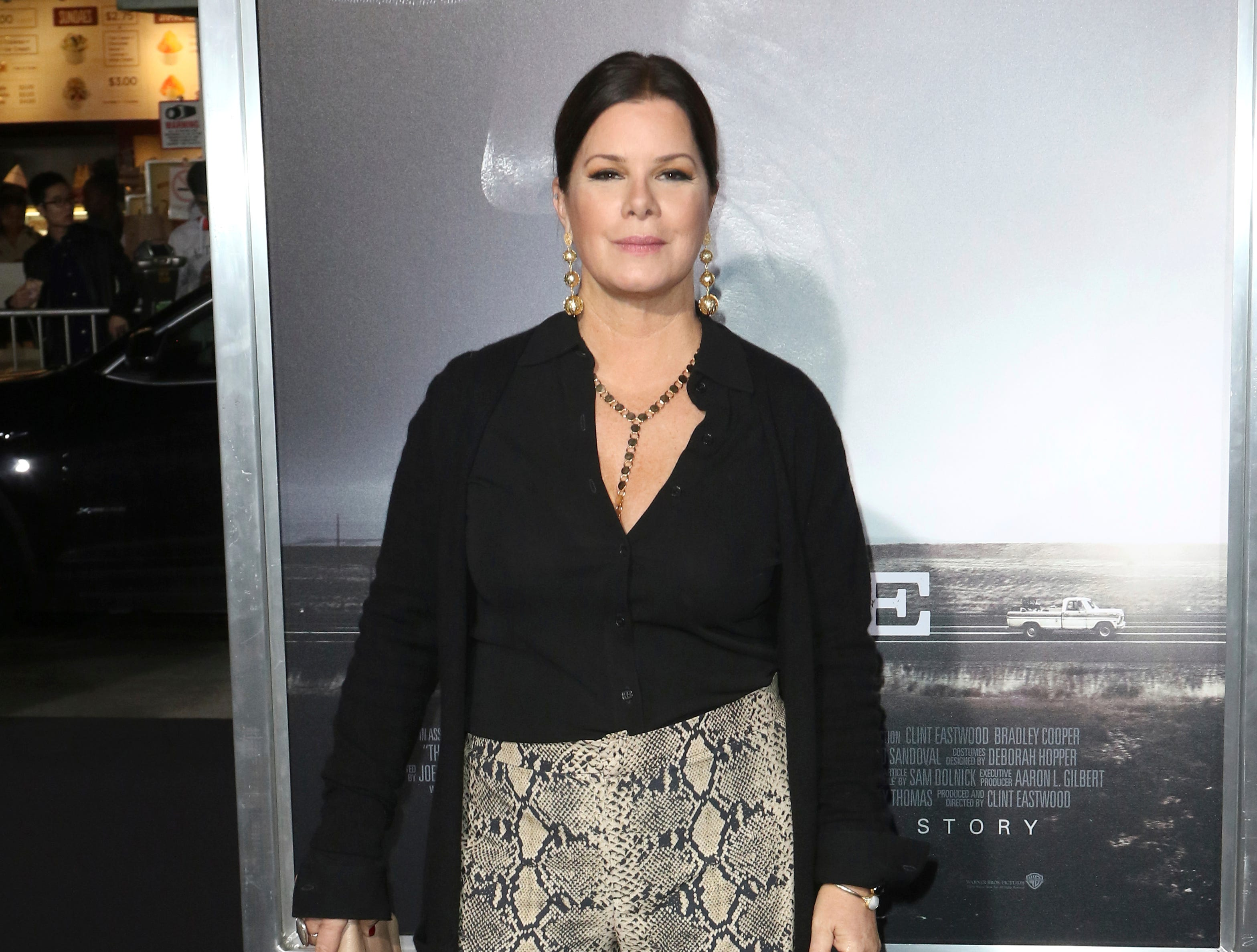 "Marcia Gay Harden arrives at the world premiere of ""The Mule"" on Monday, Dec. 10, 2018, at the Westwood Regency Village Theatre in Los Angeles."