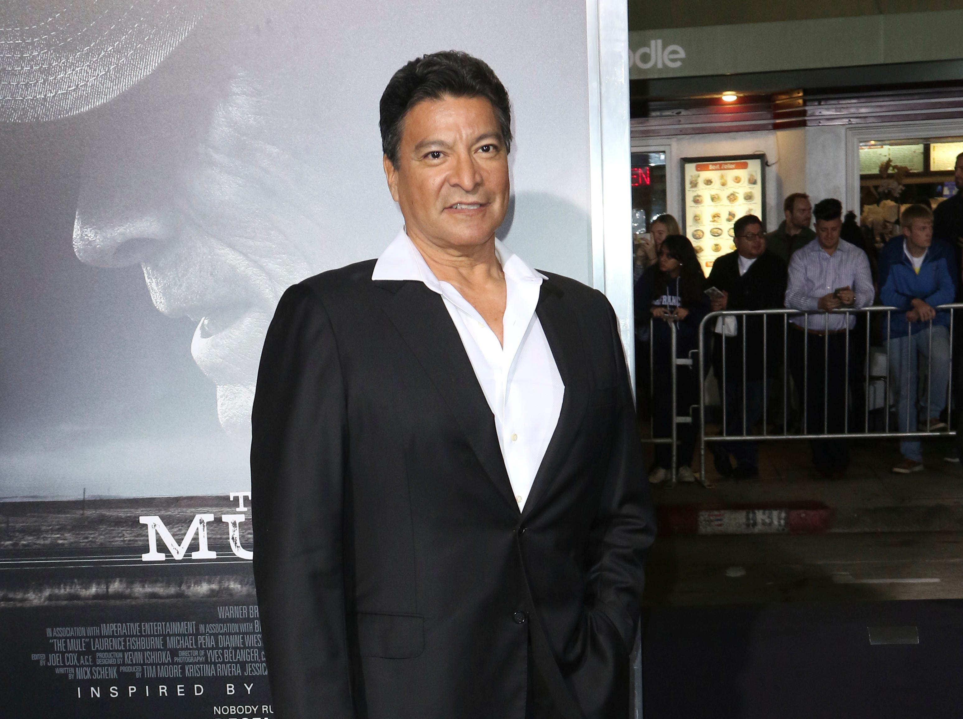 "Gil Birmingham arrives at the world premiere of ""The Mule"" on Monday, Dec. 10, 2018, at the Westwood Regency Village Theatre in Los Angeles."