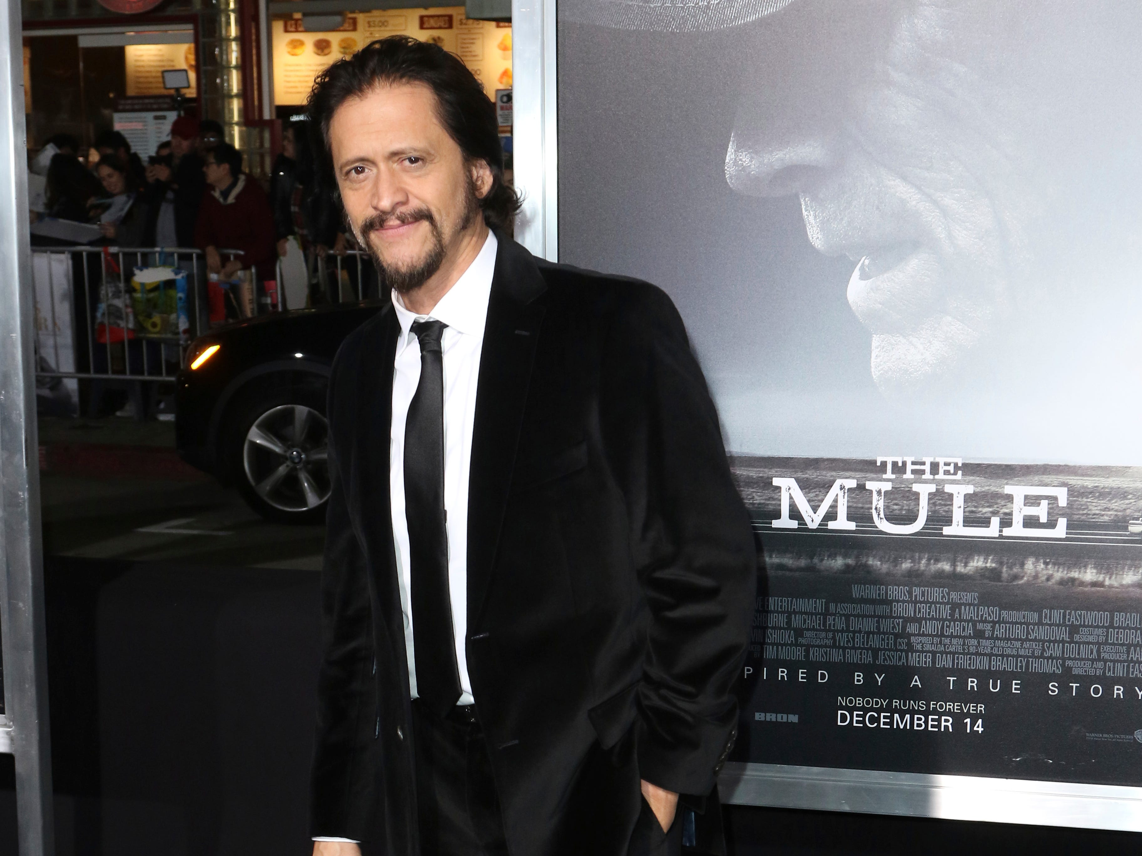 "Clifton Collins Jr. arrives at the world premiere of ""The Mule"" on Monday, Dec. 10, 2018, at the Westwood Regency Village Theatre in Los Angeles."