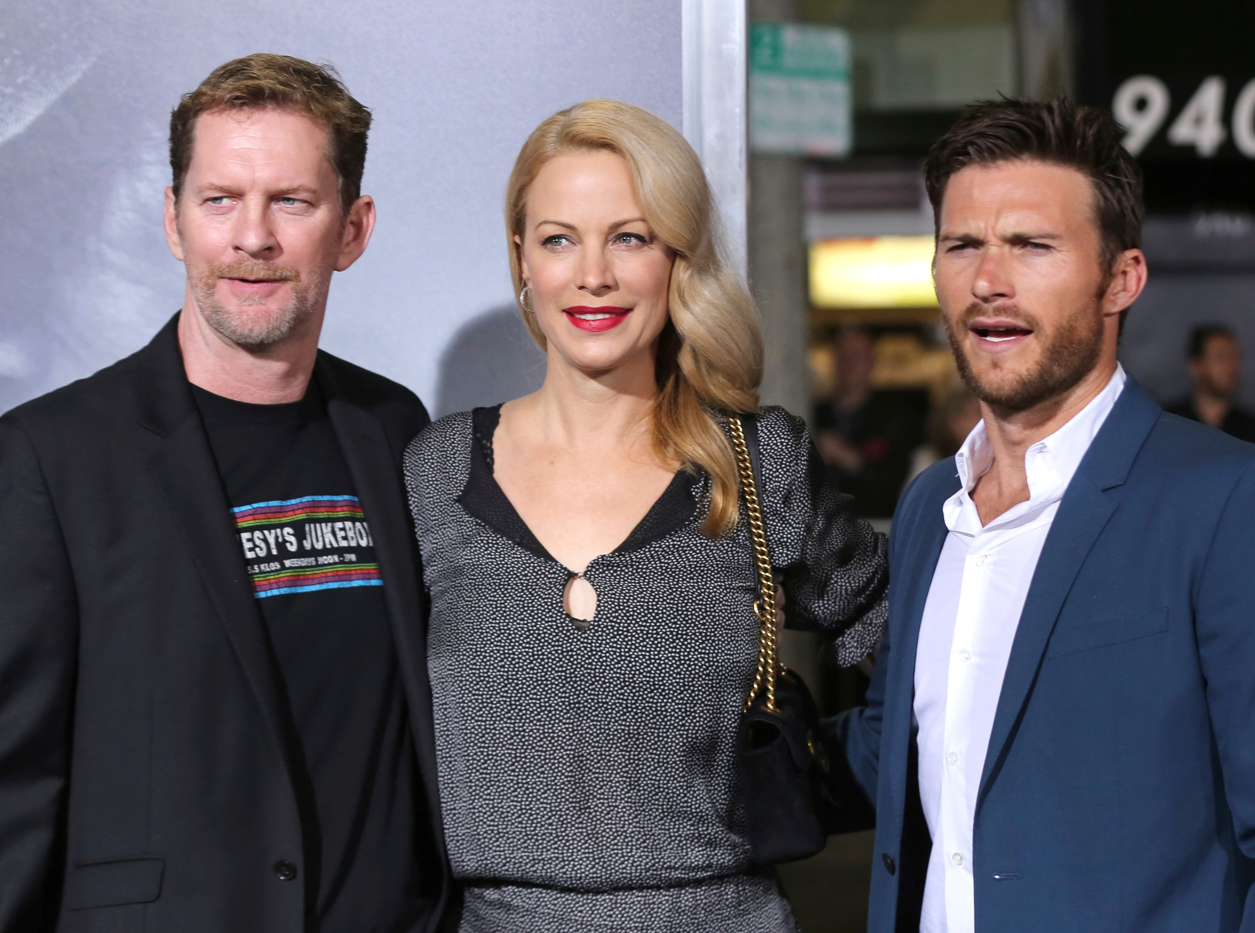 "Scott Eastwood, from right, Alison Eastwood and Stacy Poitras arrive at the world premiere of ""The Mule"" on Monday, Dec. 10, 2018, at the Westwood Regency Village Theatre in Los Angeles"