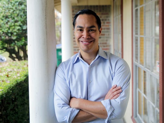 Democrat Julian Castro poses for a photo at his home in San Antonio, Tuesday, Dec. 11, 2018.  Castro says he is launching a presidential exploratory committee ahead of a likely White House run in 2020. Castro was the nation's housing secretary until 2016 and spent five years as mayor of San Antonio.
