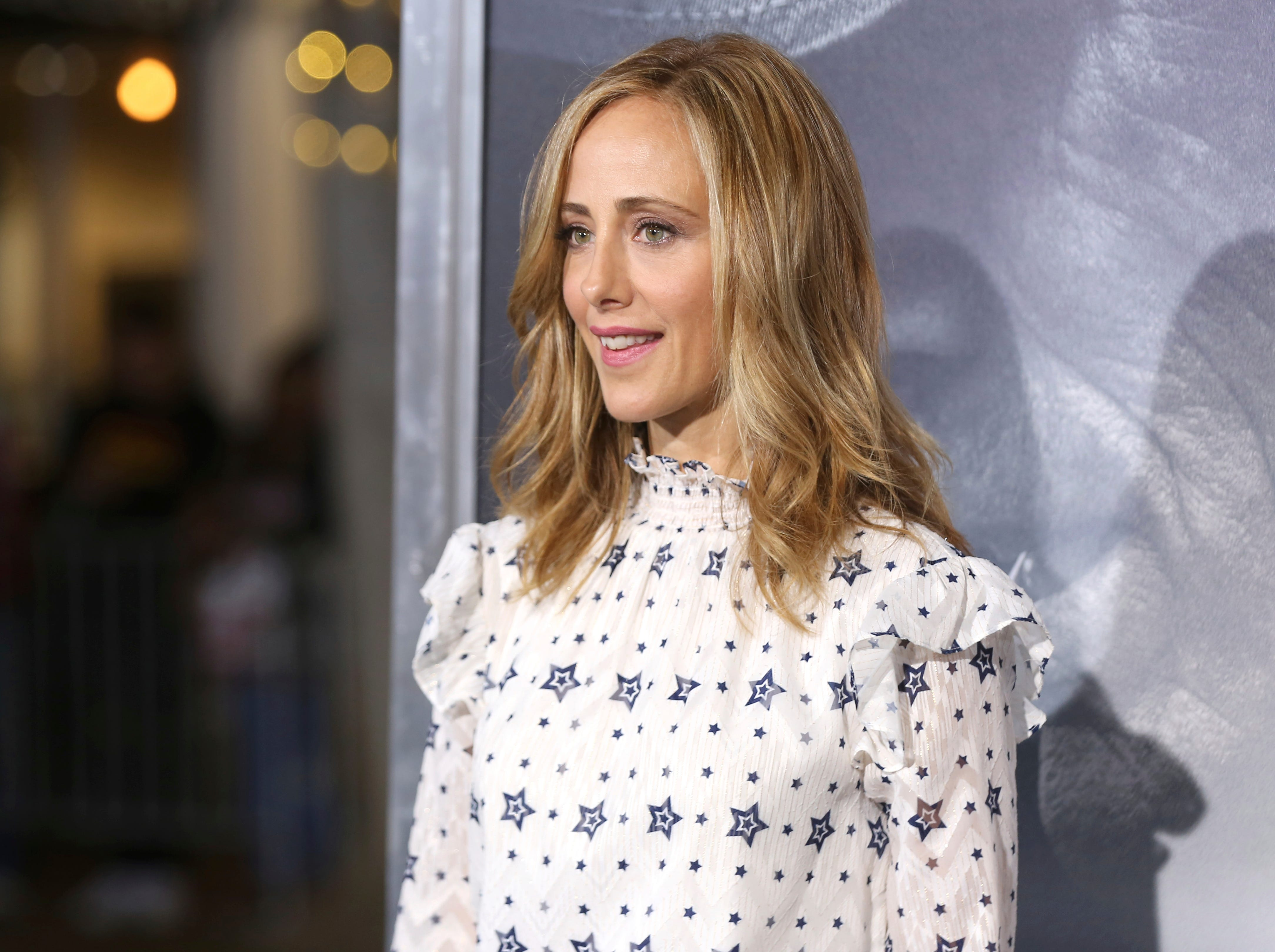 "Kim Raver arrives at the world premiere of ""The Mule"" on Monday, Dec. 10, 2018, at the Westwood Regency Village Theatre in Los Angeles."
