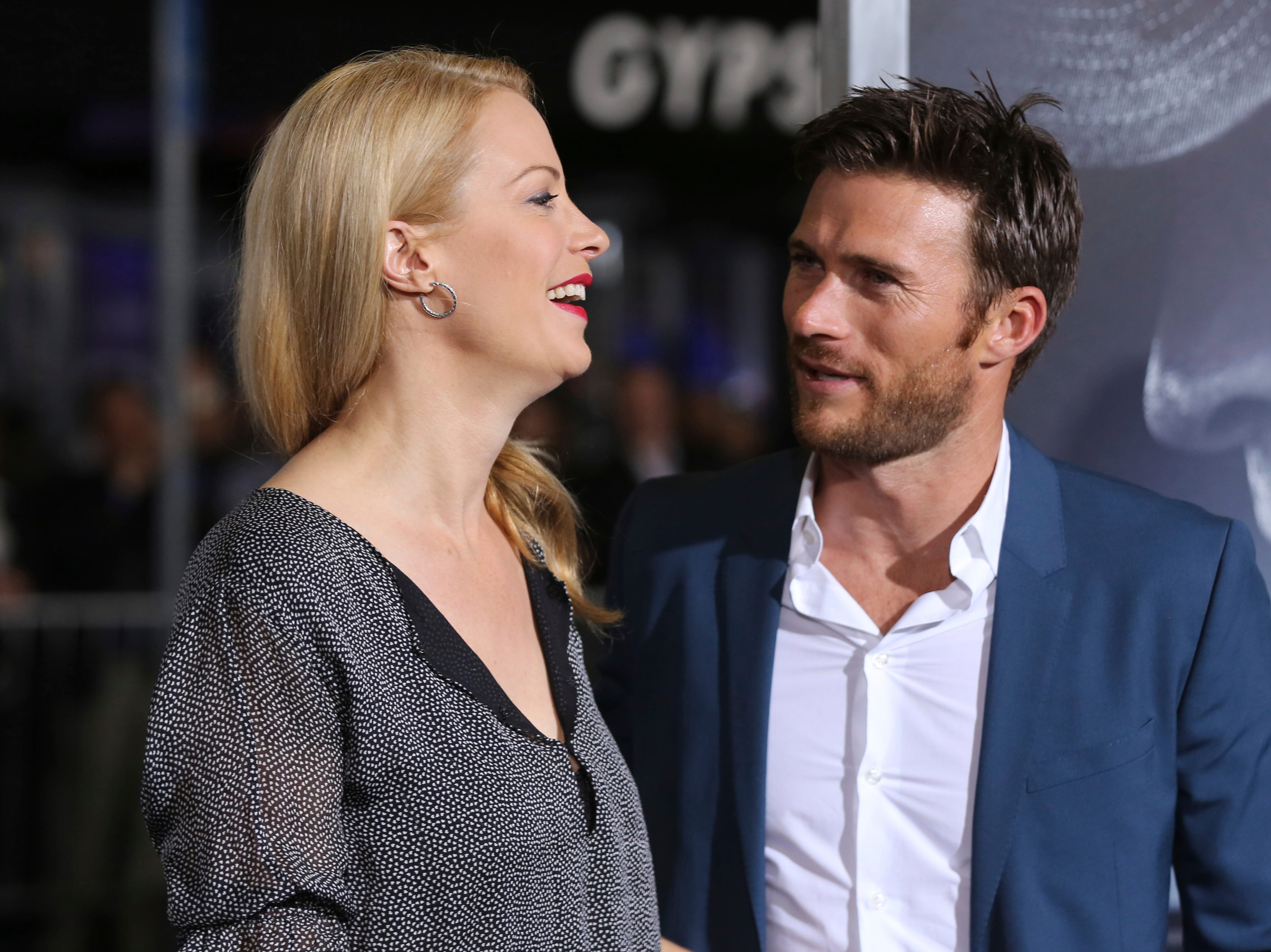 "Actors Alison Eastwood, left, and her brother Scott Eastwood arrive at the world premiere of ""The Mule"" on Monday, Dec. 10, 2018, at the Westwood Regency Village Theatre in Los Angeles."