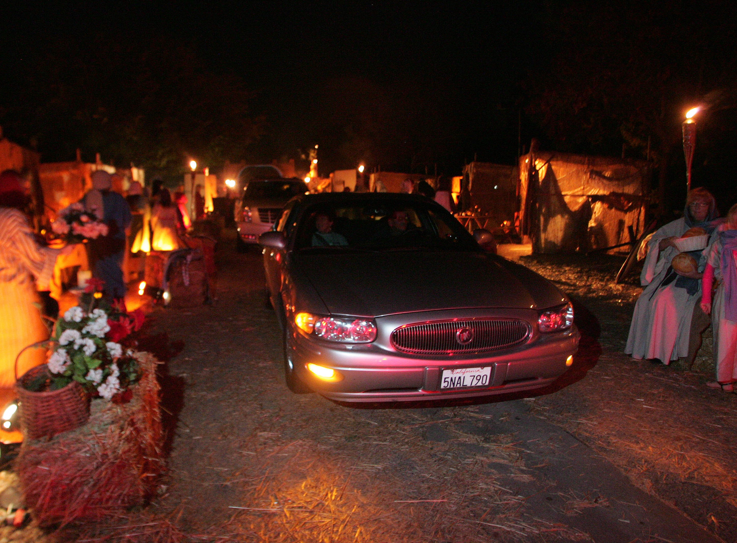 Visitors drive through the Bethlehem Experience in 2012.