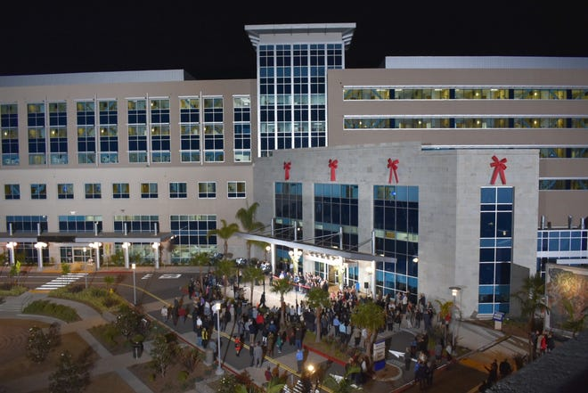 The new Community Memorial Hospital opened Sunday morning in midtown Ventura. People gathered for a dedication and ribbon-cutting several days earlier.