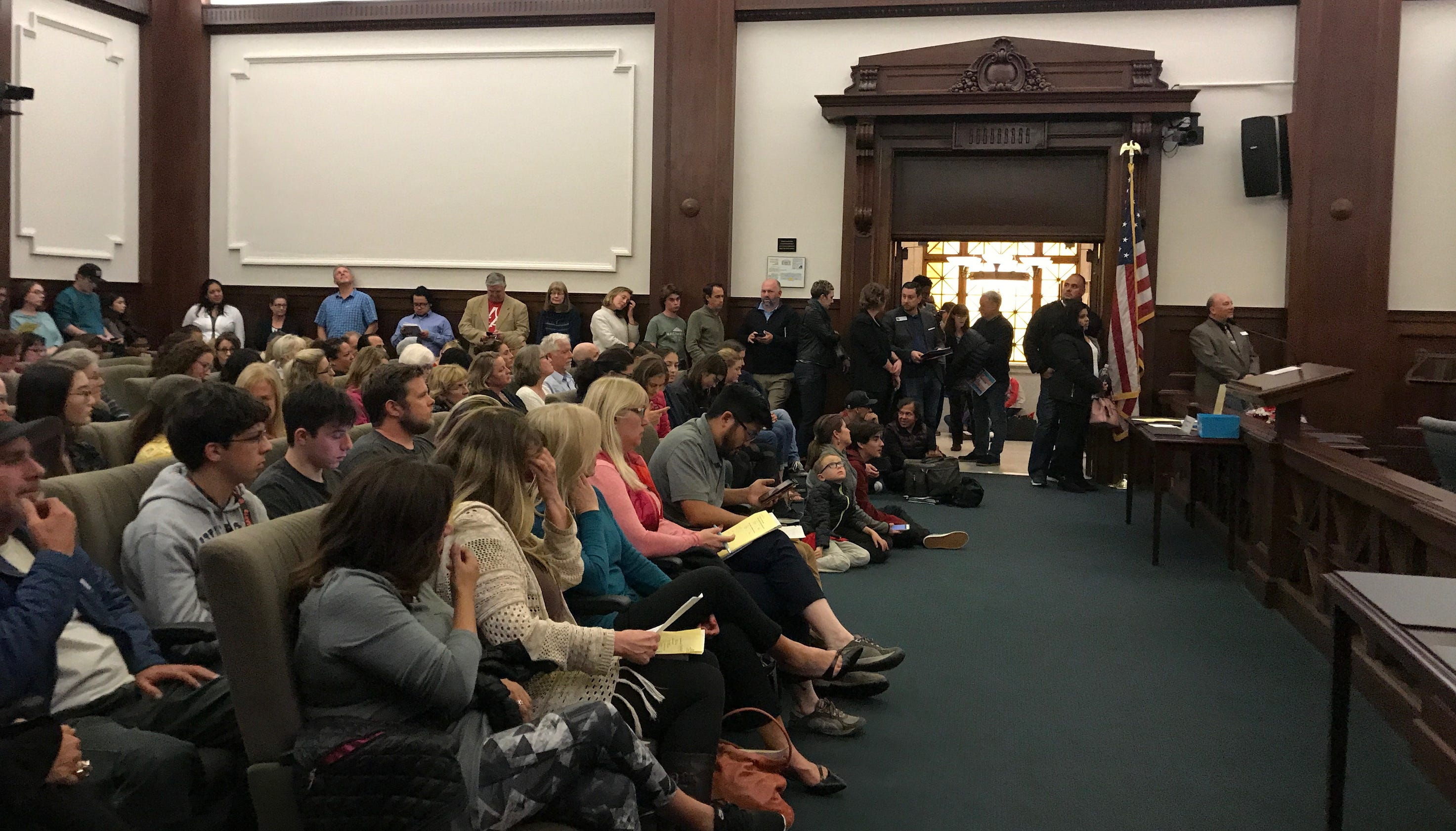 ventura unified meeting after superintendent resigns draws big crowd