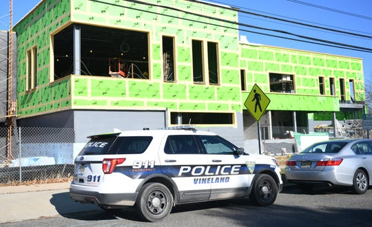 Construction work continues on Vineland's new police station at the corner of E. Plum and N. 6th Street on Friday, December 7, 2018.