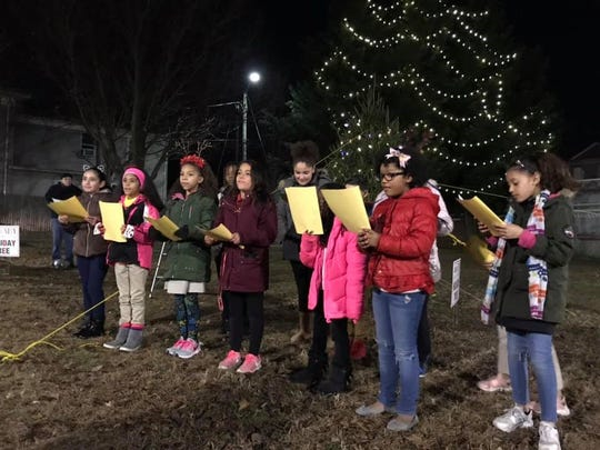 The choir from the Dane Barse Elementary School in Vineland performed at the CommUNITY Tree Lighting event on Dec. 10.