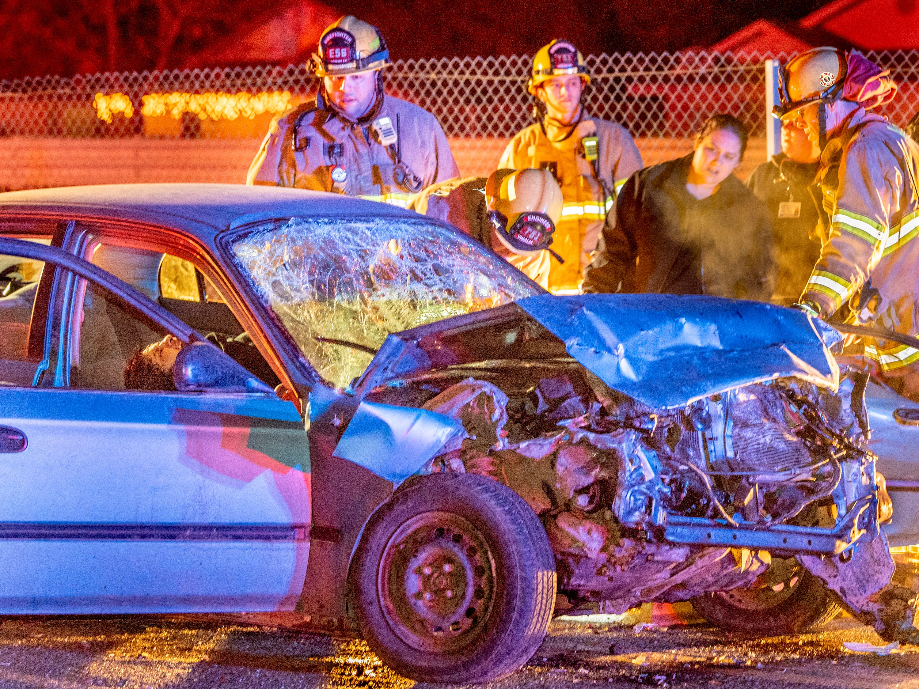 Alcohol and speed factors in 3-car collision that sent 4 to Visalia hospital
