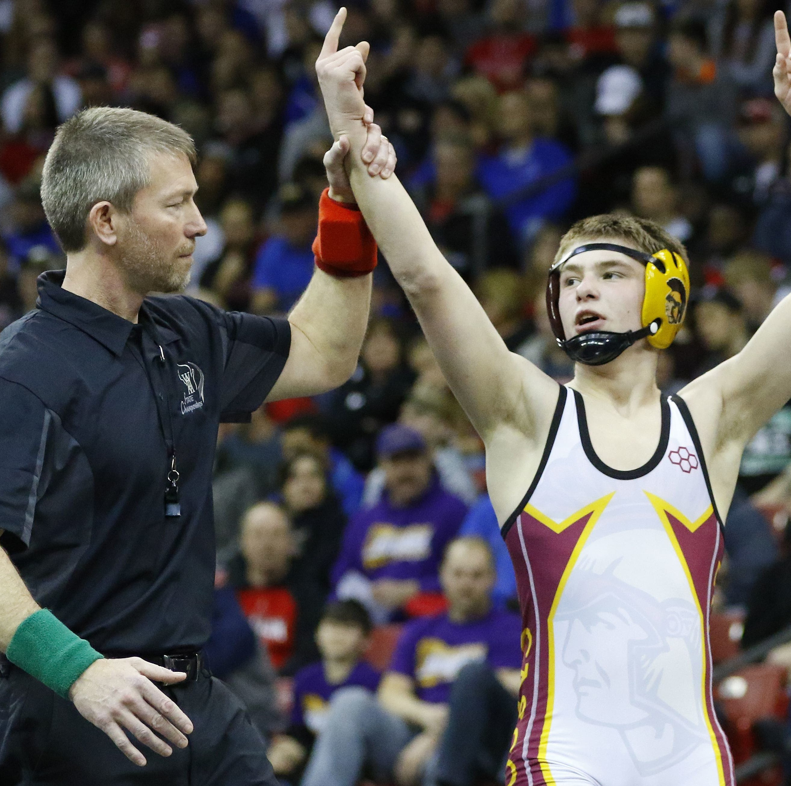 High school wrestling: L-C's Bryce Bosman could become the next 'four'tunate grappler