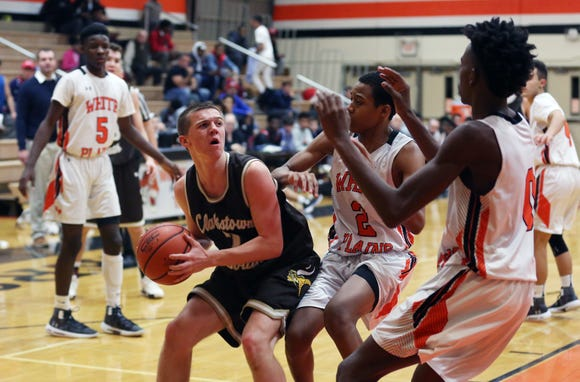 White Plains defeated Clarkstown South 64-56 in boys basketball action at White Plains High School Dec. 11, 2018.