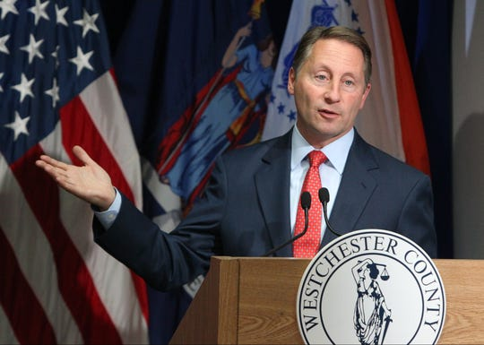 Westchester County Executive Rob Astorino presents details of his proposed budget at the county office building in White Plains Nov. 10, 2016.