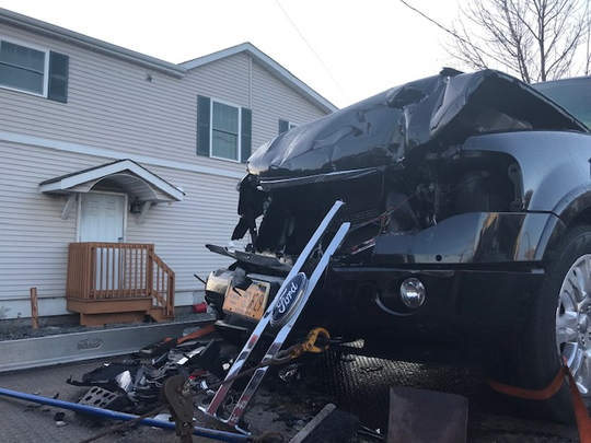 Spring Valley Department of Public Works Superintendent Robert Johnson crashed this village SUV in Sloatsburg on Dec. 9, 2018, and was arrested on a DWI charge, Ramapo police said.