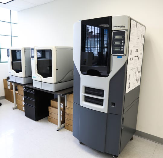 3D printers at Rockland Community College's Haverstraw extension site. Wednesday, December 12, 2018.