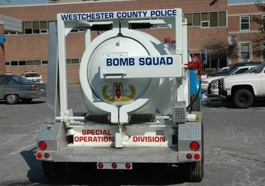 The Westchester County Bomb squad vehicle.