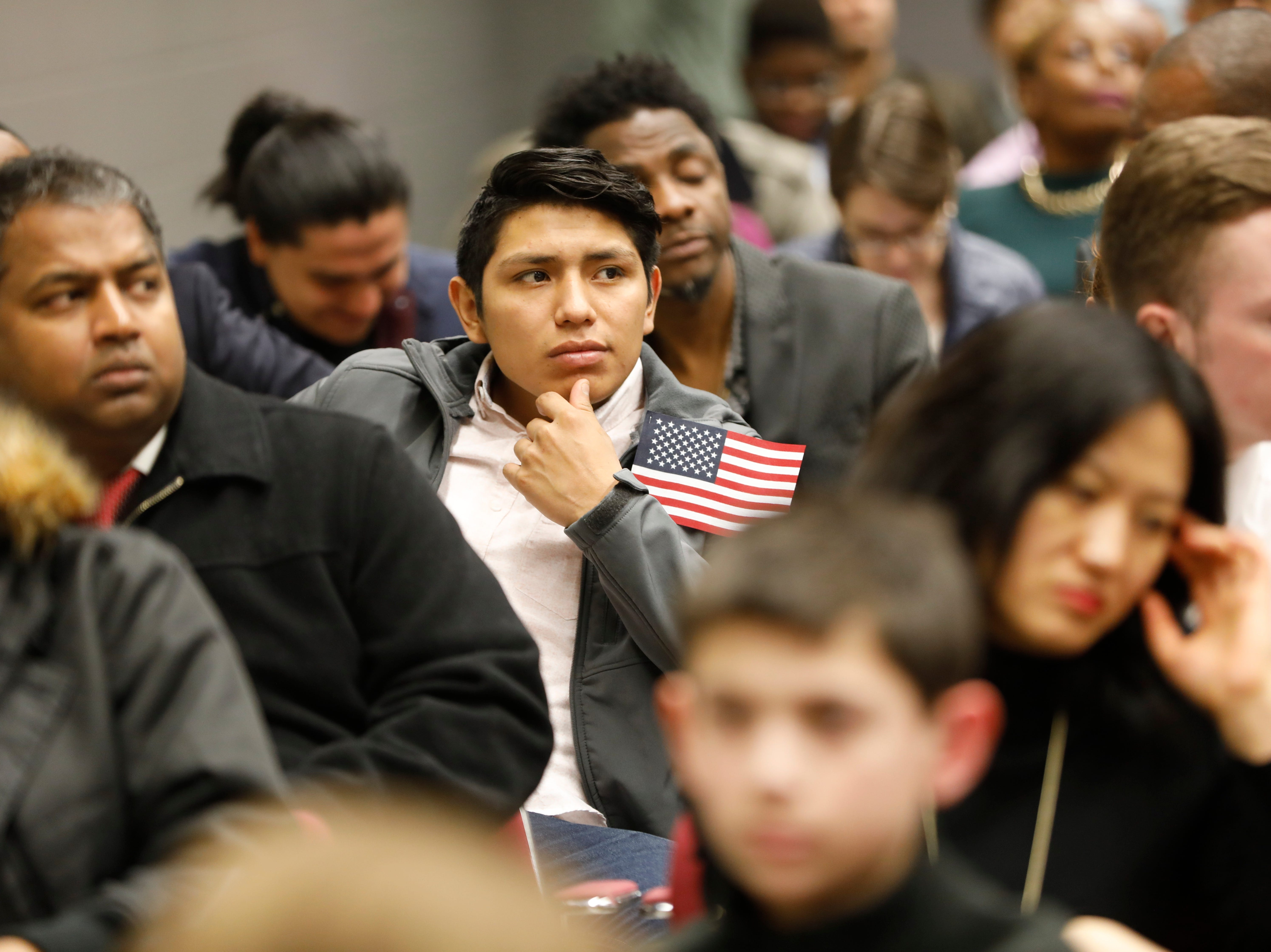 162 citizens from 39 countries were formally sworn in as citizens of the United States at a naturalization ceremony at the Rockland County Fire Training Center in Pomona on April 13, 2018.