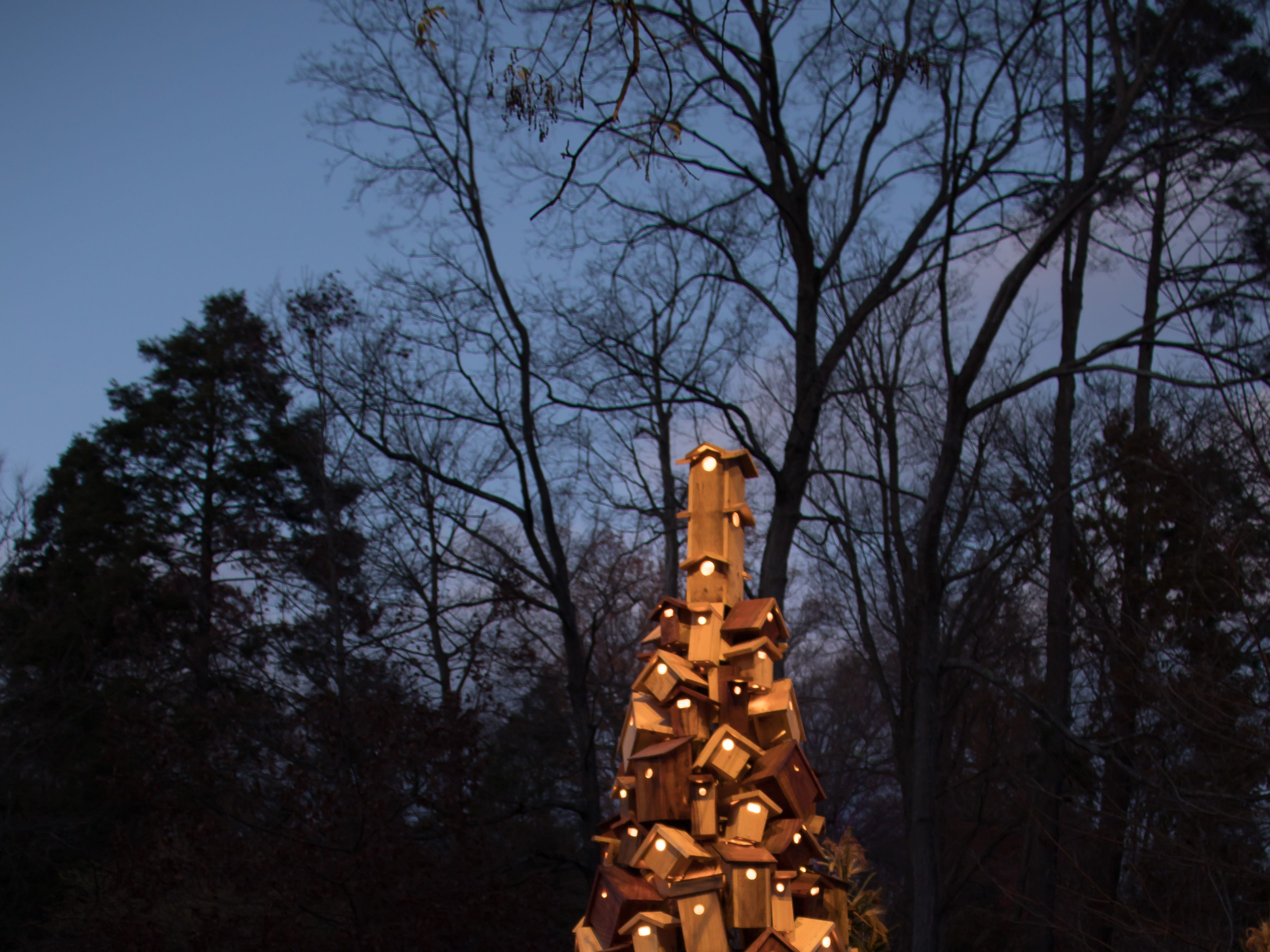 "A Longwood Christmas in 2018 takes on a theme of ""trees reimagined."""