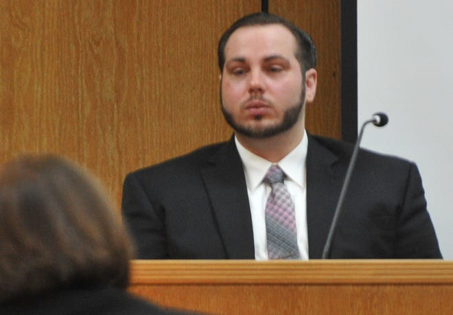 Justin Love testifies in 30th District Court during his first trial as shown in this Dec. 12, 2018, file photo. He is accused in the murder of Domanic Thrasher in June 2015.