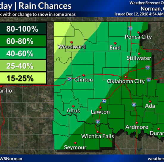 Chance of rain and snow 'likely' Thursday, wind gusts in forecast for Wichita Falls area