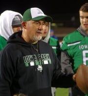 Iowa Park co-defensive coordinator Tino Acosta has been with Aubrey Sims since 2006.