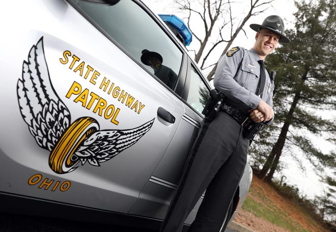 Jonah C. Carson was named the Ohio State Highway Patrol Trooper of the Year for the Patrol's Cambridge District, which puts him in the running for the state-wide trooper of the year award.