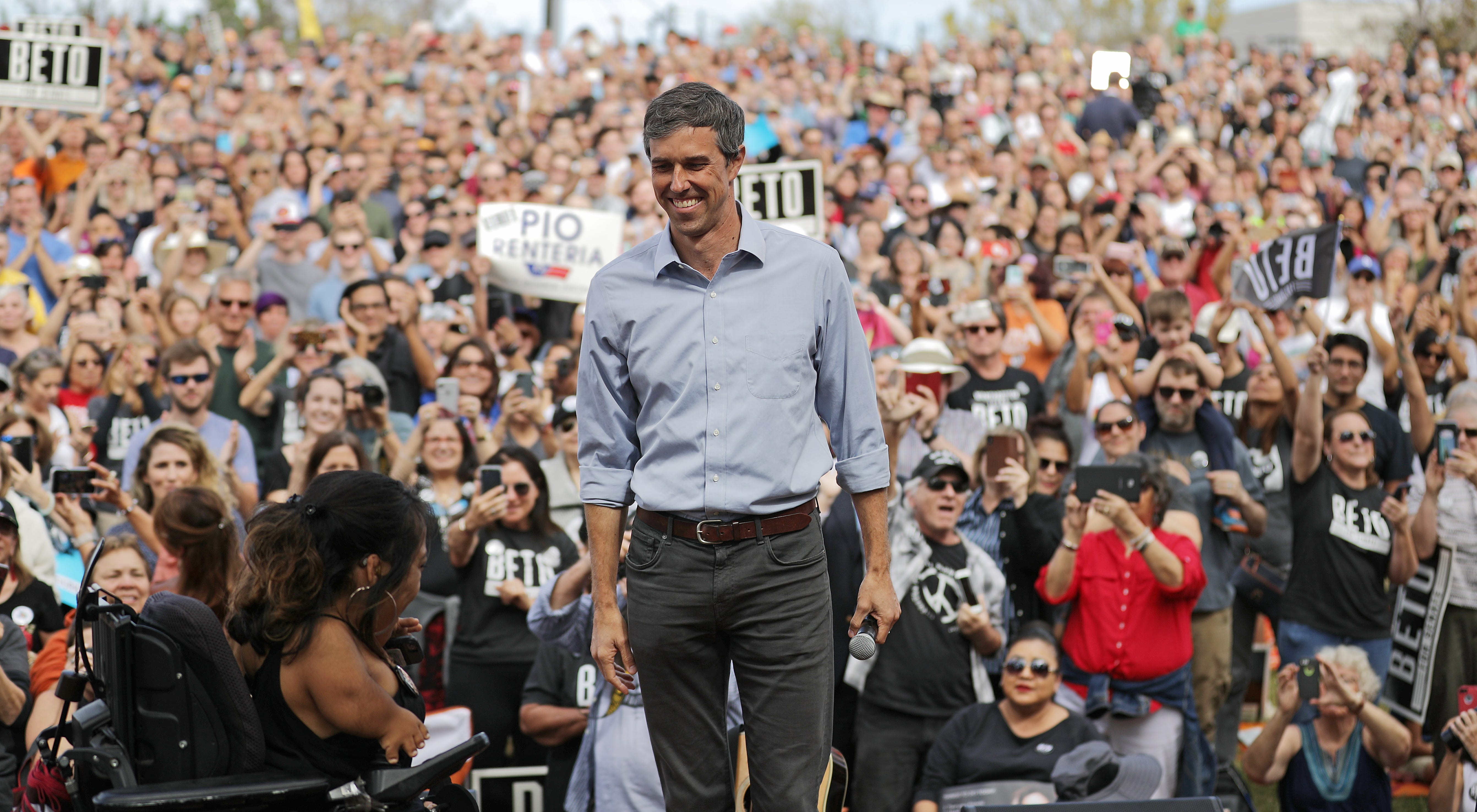 Texas Rep. Beto O'Rourke edges out Joe Biden to lead 2020 democratic field in MoveOn poll