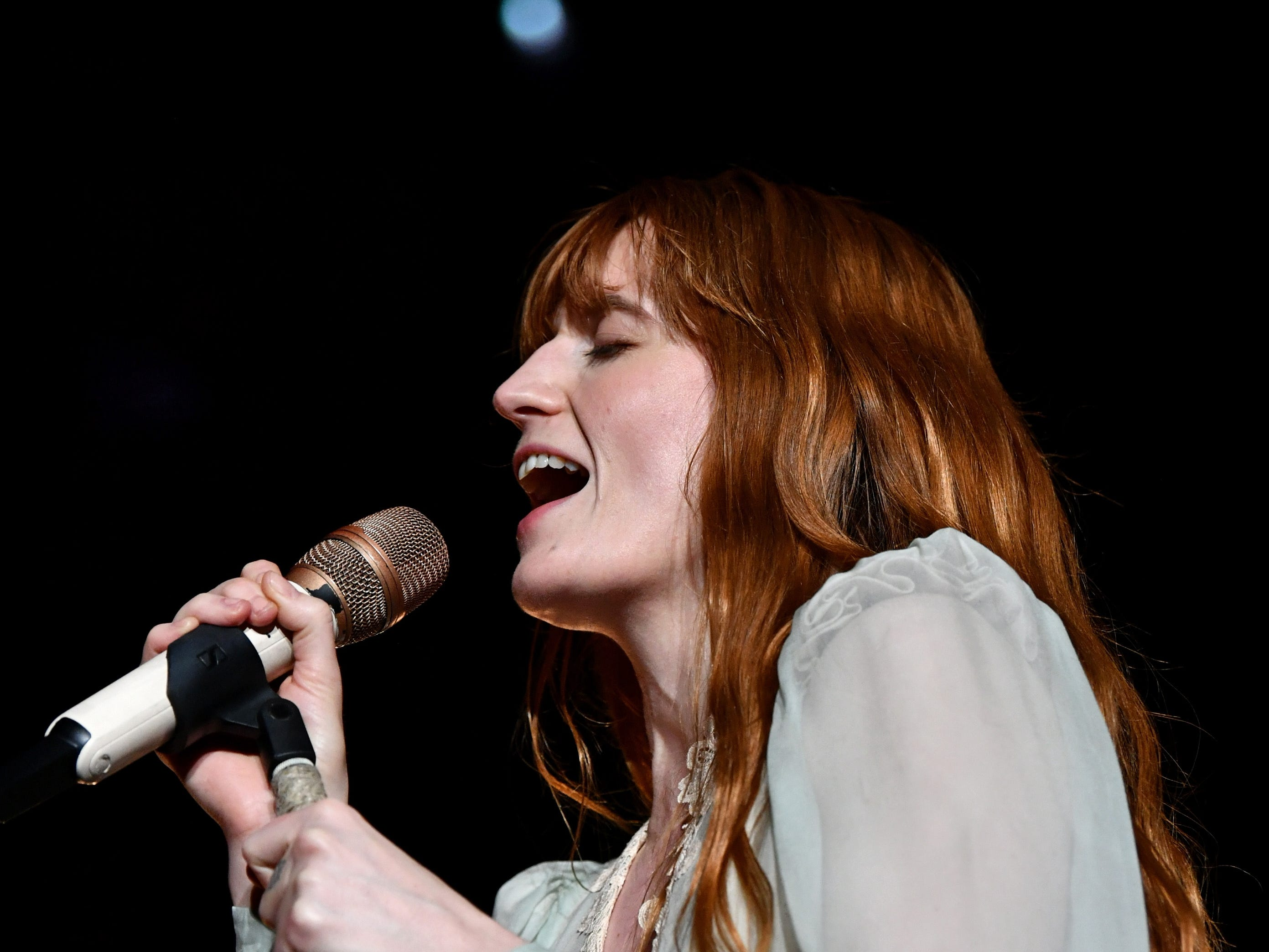 December 9: Florence Welch of Florence and the Machine performs in Inglewood, California.