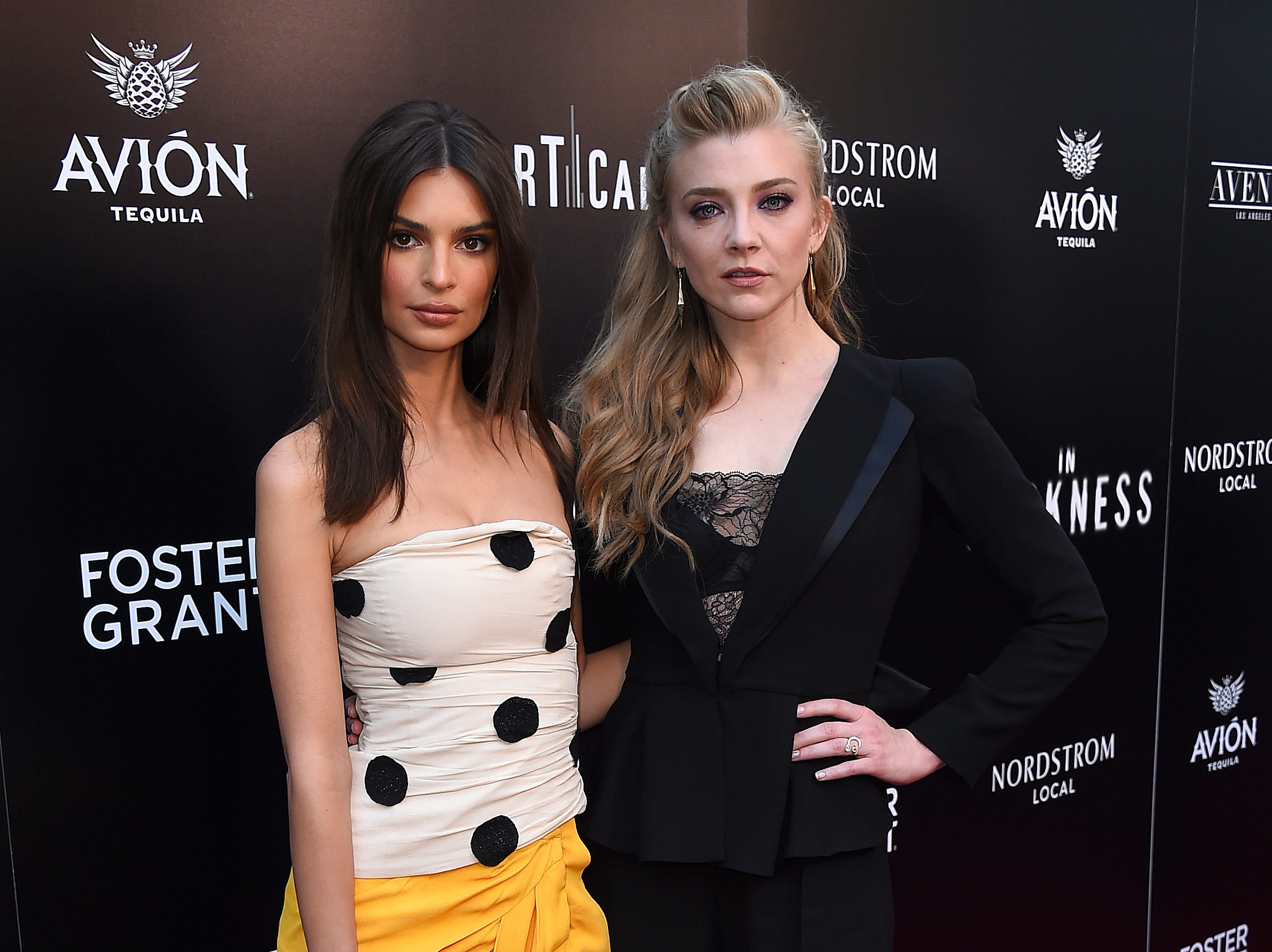 """May 23: Emily Ratajkowski and Natalie Dormer attend the Los Angeles premiere of """"In Darkness."""""""